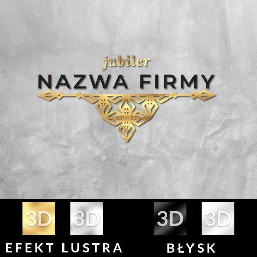 Trójwymiarowy logotyp dla jubilera z ornamentem