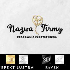 Trójwymiarowy logotyp dla pracowni florystycznej