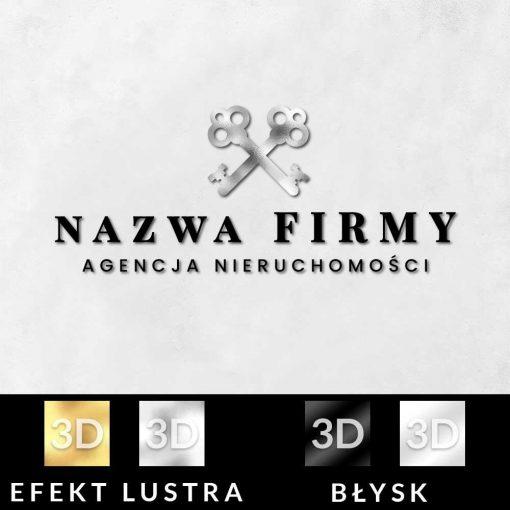 Trójwymiarowy logotyp do biura nieruchomości
