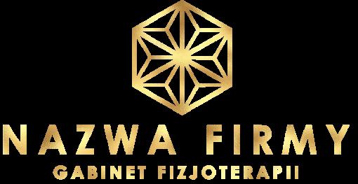 Trójwymiarowy logotyp z abstrakcyjnymi trójkątami - fizjoterapeuta