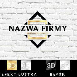 Trójwymiarowy logotyp z geometrycznym ornamentem dla biura
