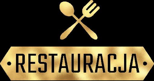 Widelec i łyżka - złote logo do restauracji