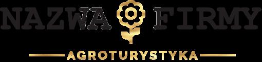 Znak firmowy 3d z kwiatkiem dla agroturystyki