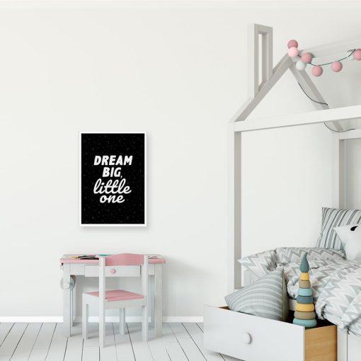 Plakat czarno-biały w języku angielskim