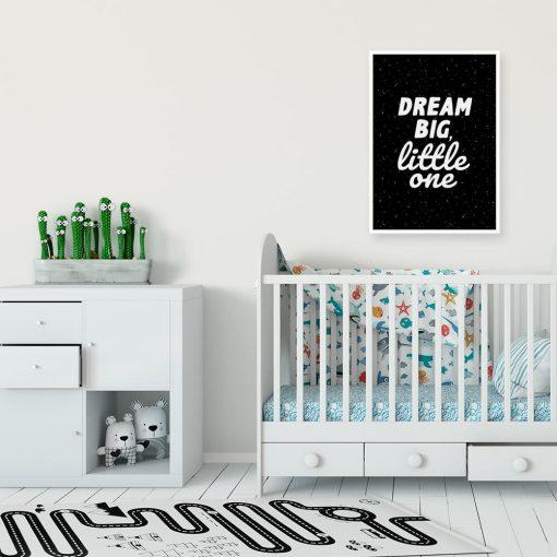 Plakat czarno-biały z maksymami