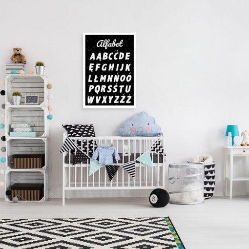 Plakat z alfabetem