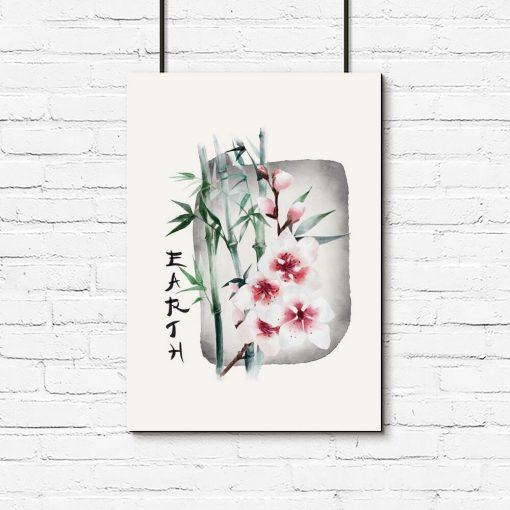 Plakat z bambusem do oprawienia w ramę