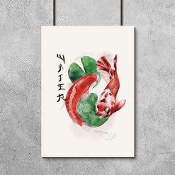 Plakat z japońskimi rybami do ram