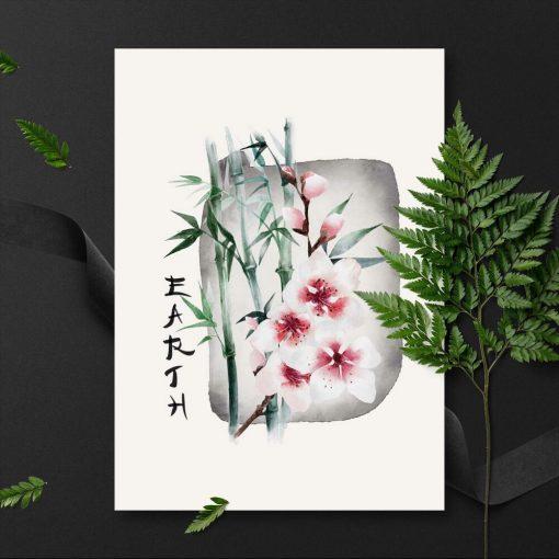 Plakat z napisem: earth bez ramy