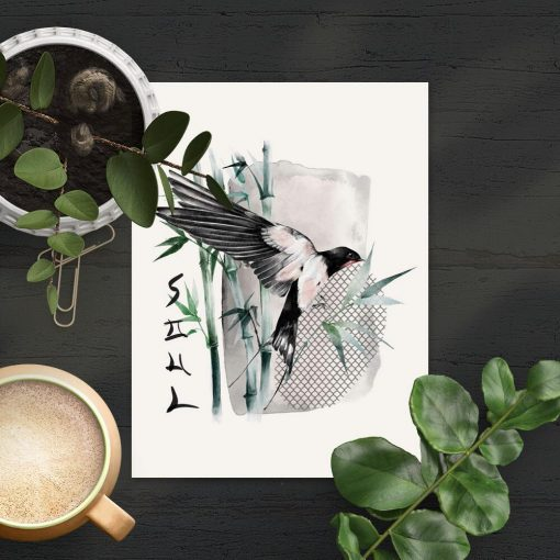 Plakat z napisem soul i ptaszkiem
