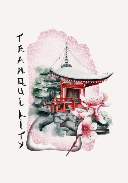 Plakat z napisem: tranquility