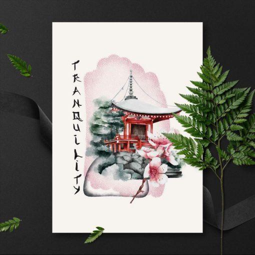Plakaty z elementami Japonii