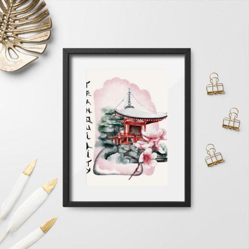 Plakaty z kwiatami wiśni