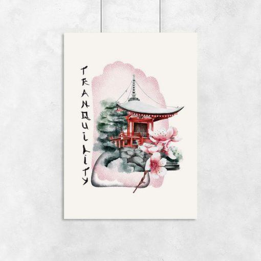 Plakaty z pagodą